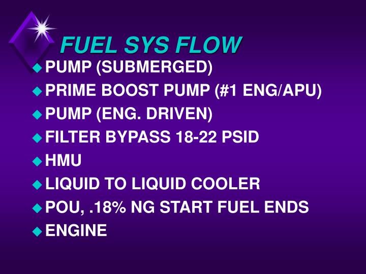FUEL SYS FLOW