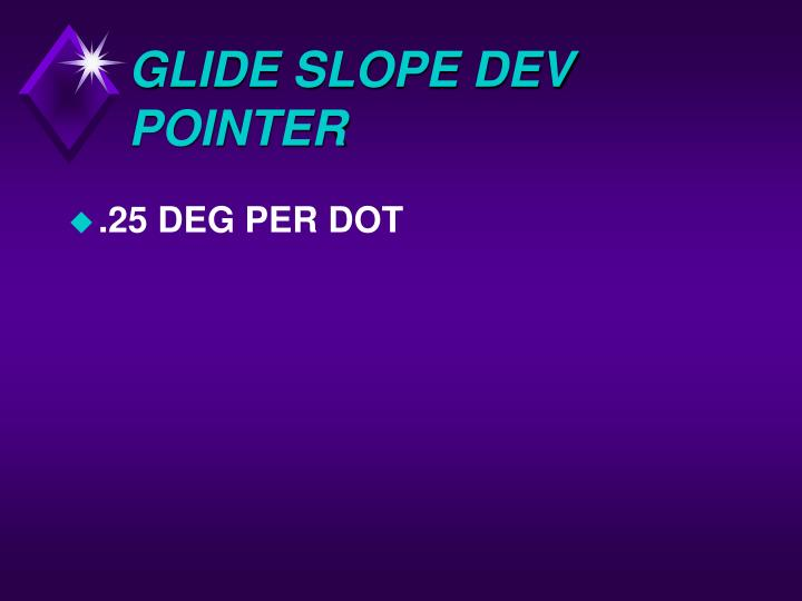 GLIDE SLOPE DEV POINTER