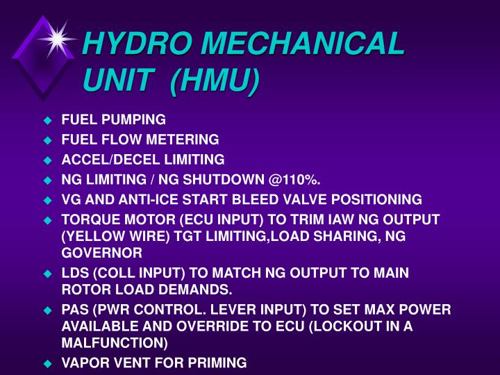 HYDRO MECHANICAL UNIT  (HMU)