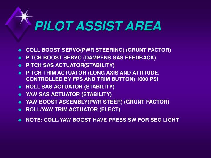 PILOT ASSIST AREA
