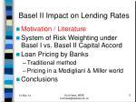 basel ii impact on lending rates