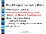 basel ii impact on lending rates1