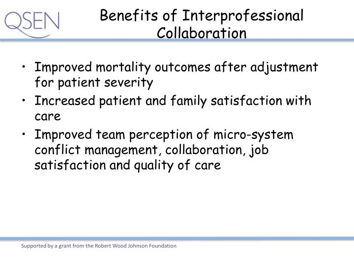 Benefits of Interprofessional Collaboration