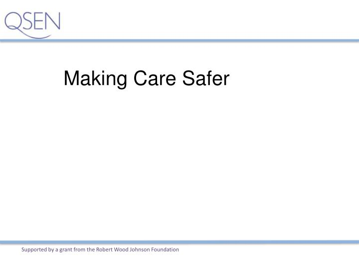 Making Care Safer