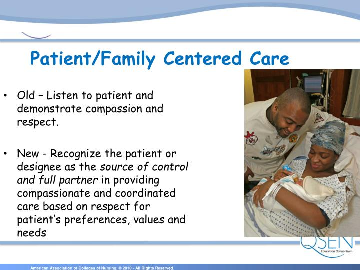 Old – Listen to patient and demonstrate compassion and respect.