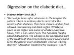 digression on the diabetic diet