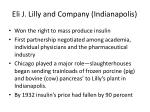 eli j lilly and company indianapolis