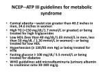 ncep atp iii guidelines for metabolic syndrome