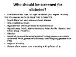 who should be screened for diabetes