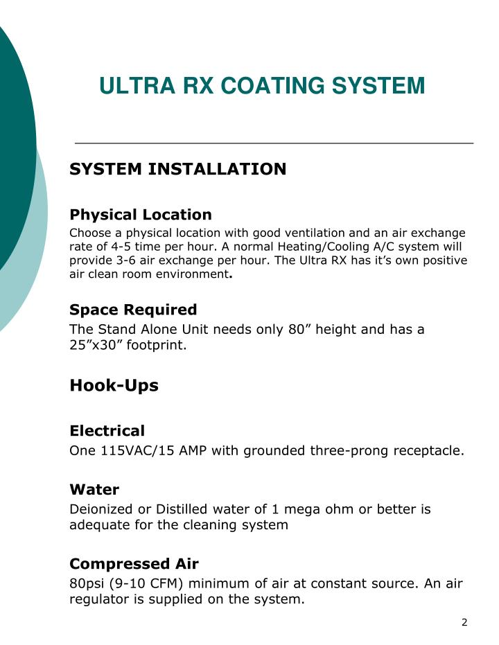 Ultra rx coating system