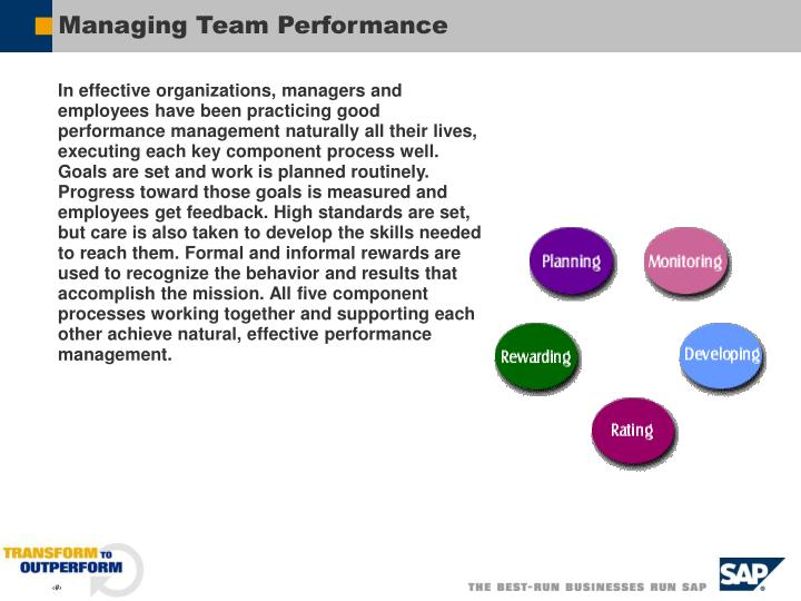 Managing Team Performance