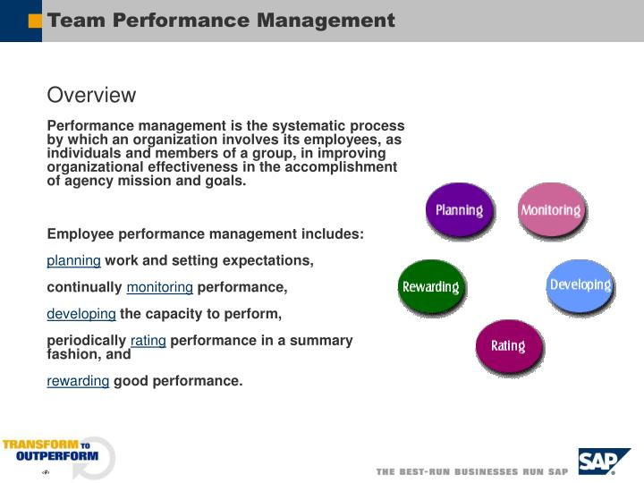 Team performance management