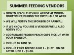 summer feeding vendors