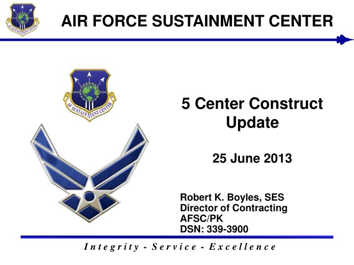 5 center construct update 25 june 2013 n.