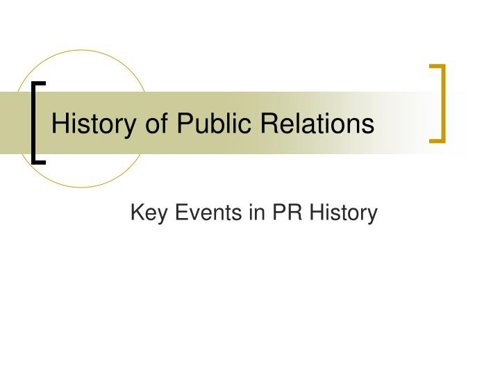 history of public relations n.