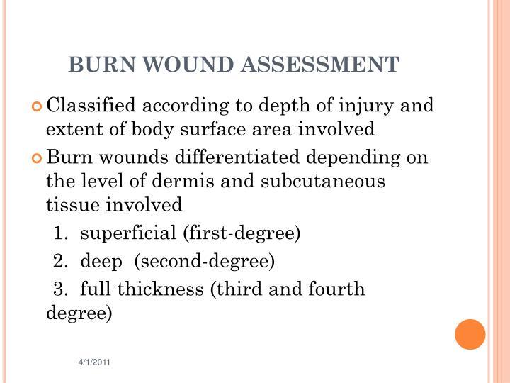 BURN WOUND ASSESSMENT