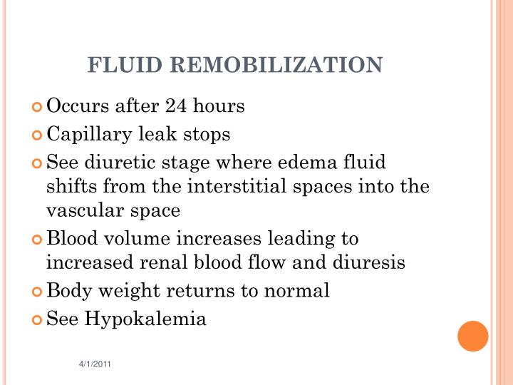 FLUID REMOBILIZATION