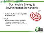 sustainable energy environmental stewardship