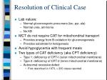 resolution of clinical case1