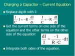 charging a capacitor current equation1