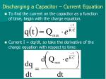 discharging a capacitor current equation