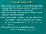 time constant r c