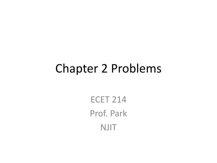 chapter 2 problems