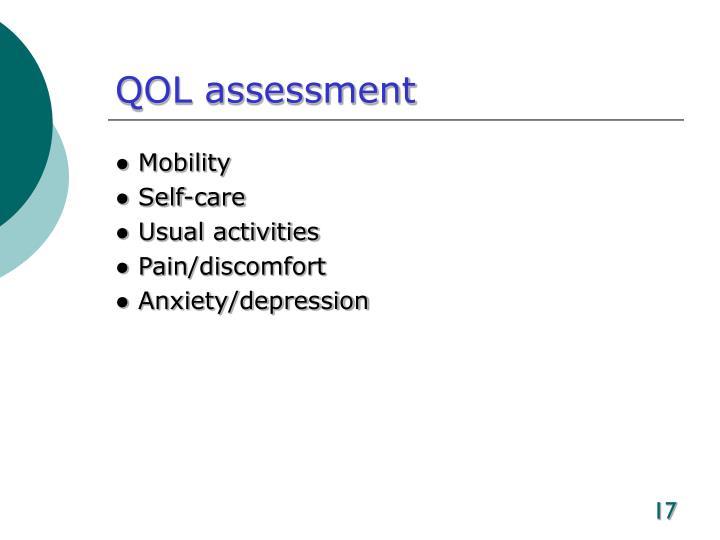 QOL assessment