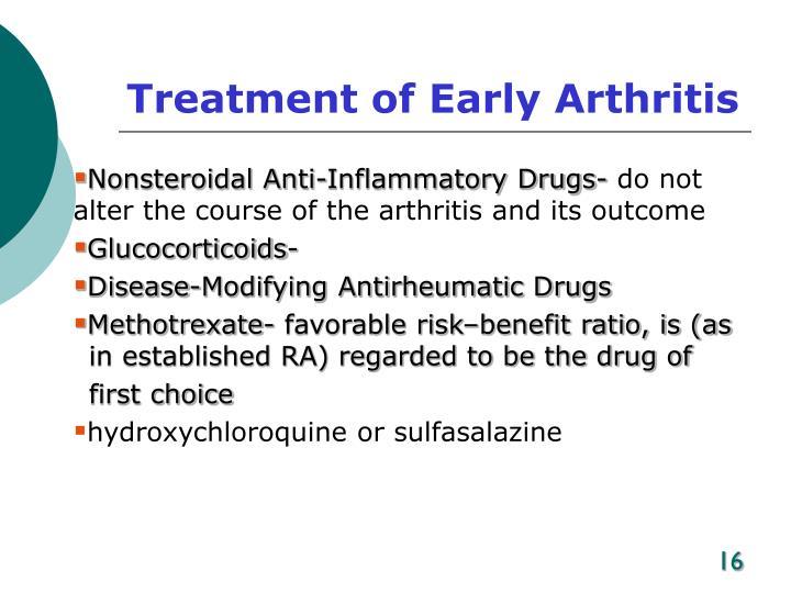 Treatment of Early Arthritis