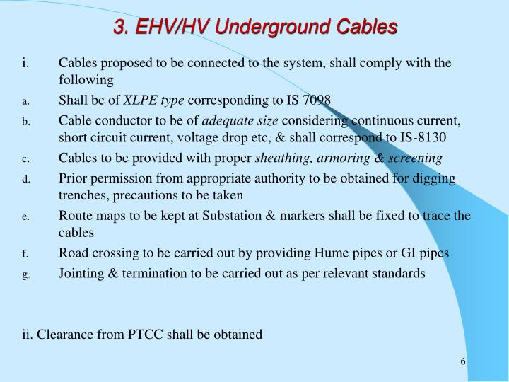 3. EHV/HV Underground Cables