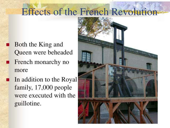 an analysis of the effects of the french revolution Negative effects of french revolution debate the french revolution's effects on europe the effects of the french revolution were political, social, economic, and.