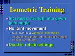 isometric training