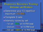progressive resistance training delorme and watkins