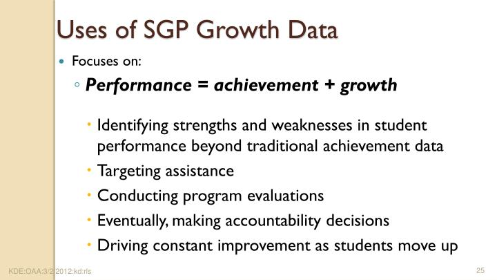 Uses of SGP Growth Data