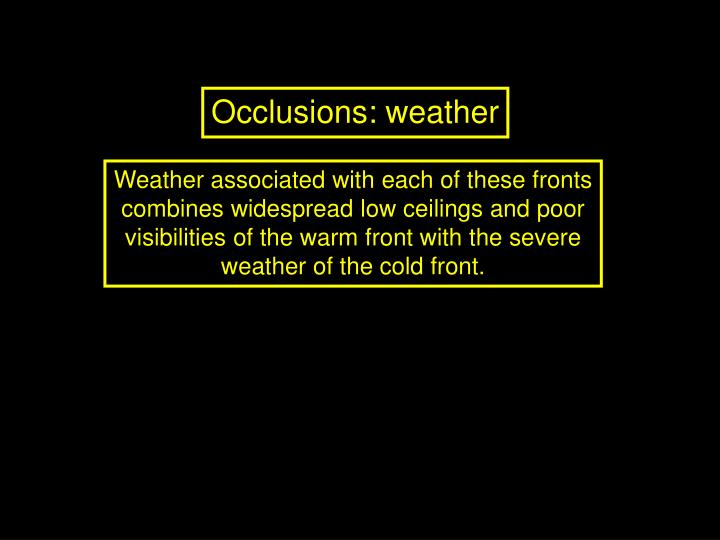 Occlusions: weather