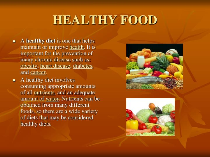 Healthy eating: eating healthy powerpoint.