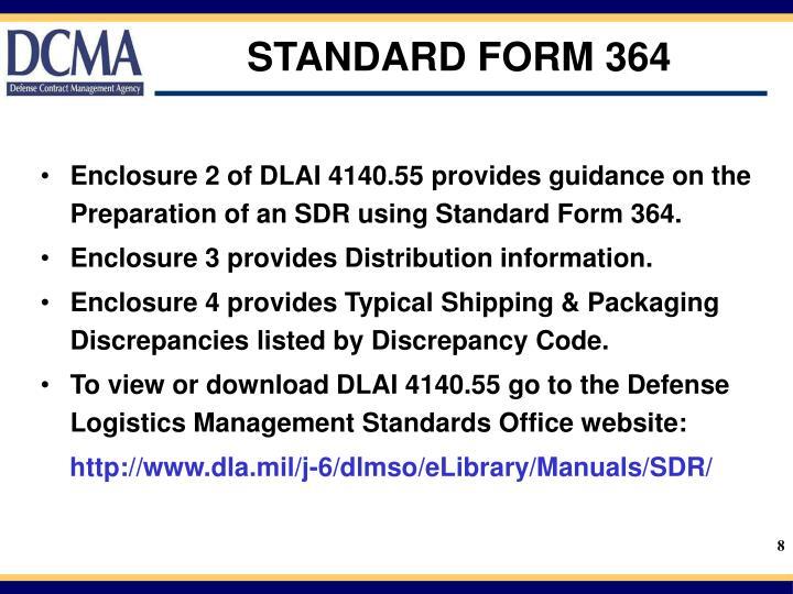 STANDARD FORM 364