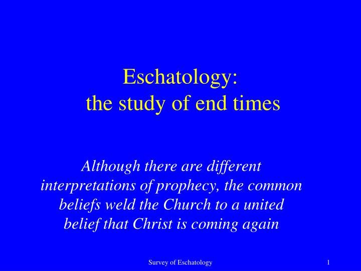 the beliefs about eschatology in the Seventh-day adventist eschatology they believe the jews have been set aside as god's chosen people, and that the church has replaced them.