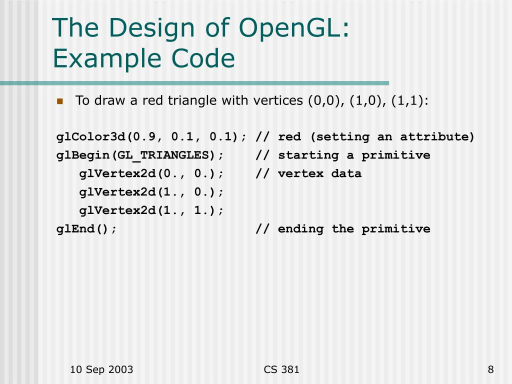 PPT - Basic OpenGL PowerPoint Presentation - ID:6599307