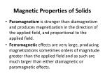 magnetic properties of solids1