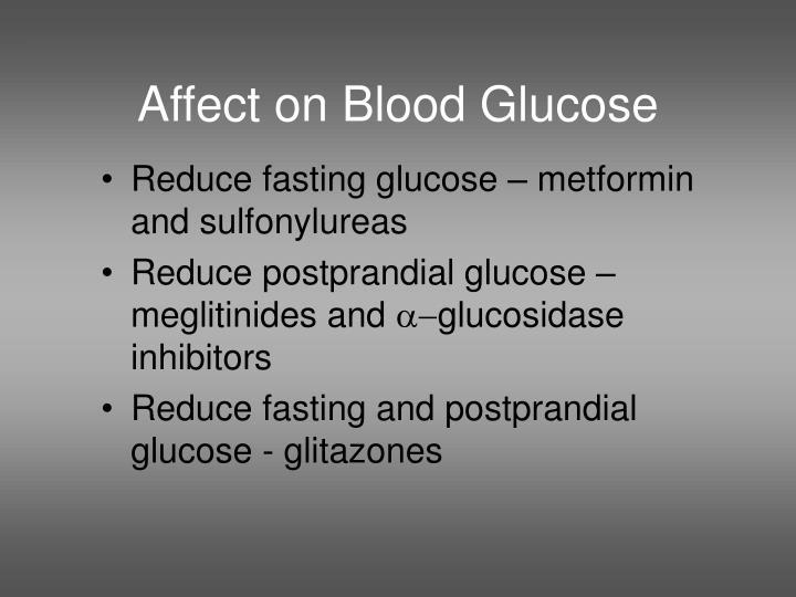 Affect on Blood Glucose