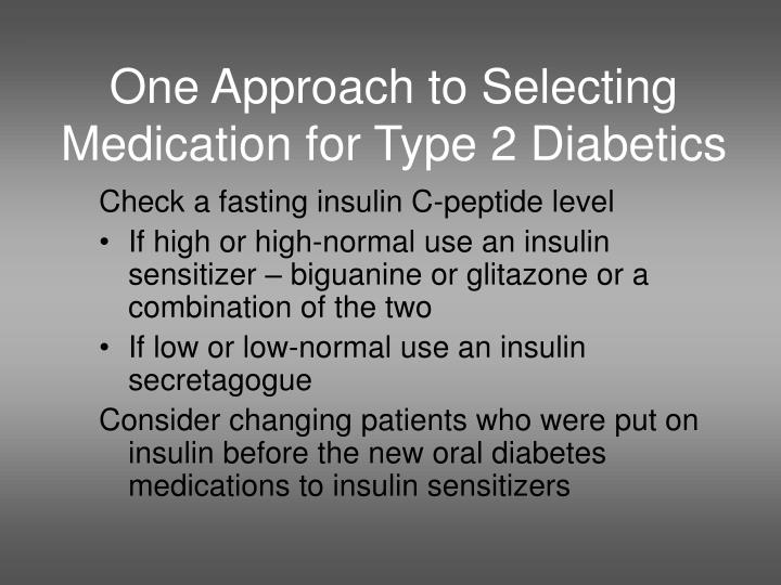 One Approach to Selecting Medication for Type 2 Diabetics