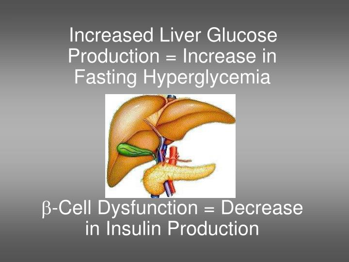 Increased Liver Glucose Production = Increase in Fasting Hyperglycemia