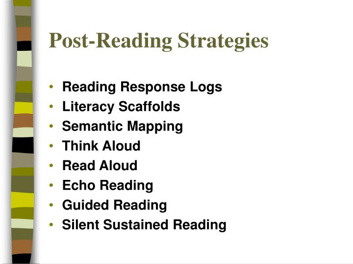 Post reading strategies1