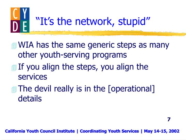 """""""It's the network, stupid"""""""