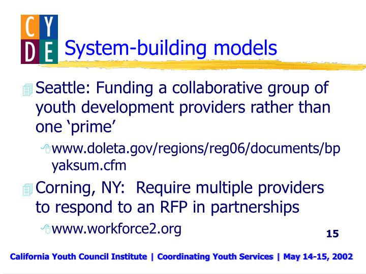 System-building models