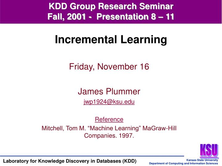 KDD Group Research Seminar