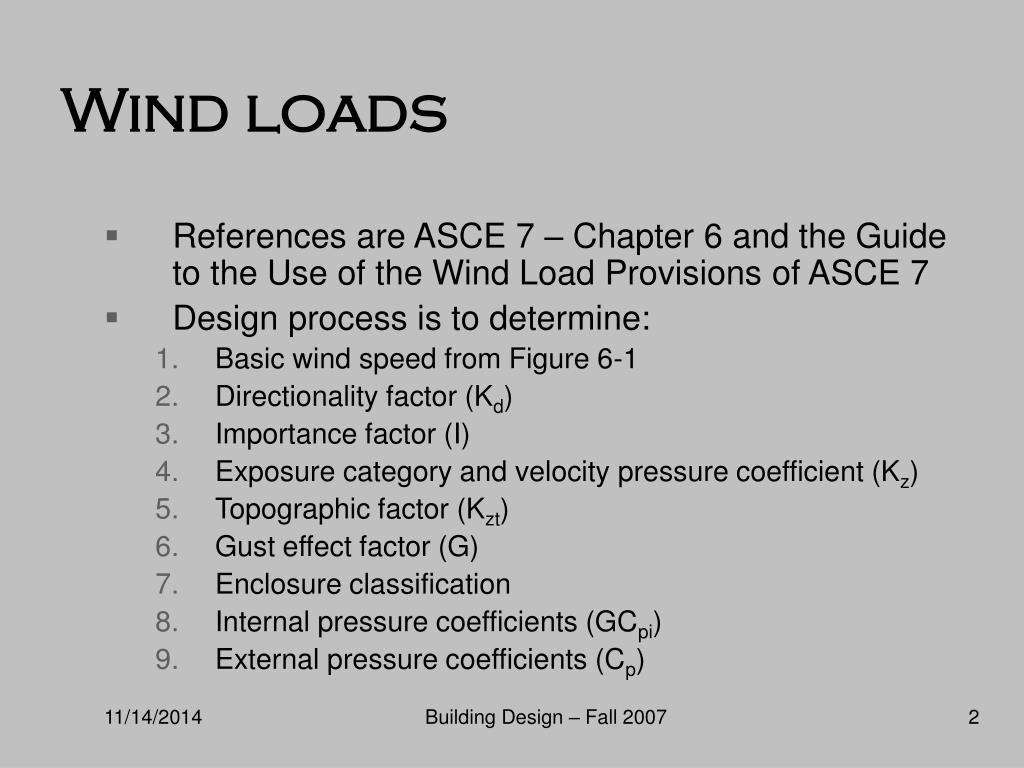 PPT - Class 5 Applying Loads to Buildings – Wind and Flood