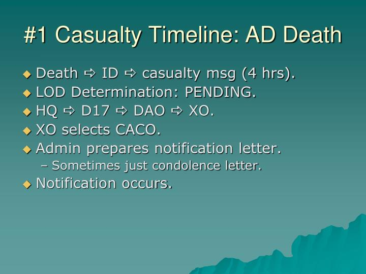 #1 Casualty Timeline: AD Death