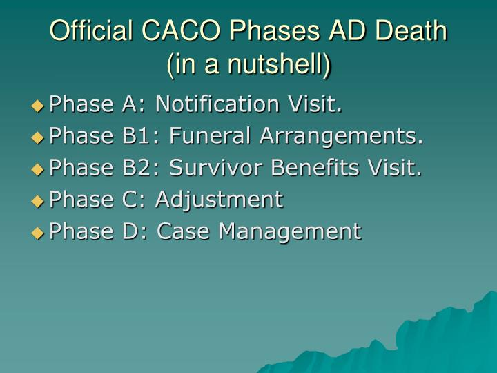 Official CACO Phases AD Death